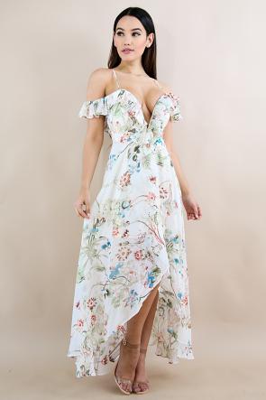 Swirled Autumn Maxi Dress