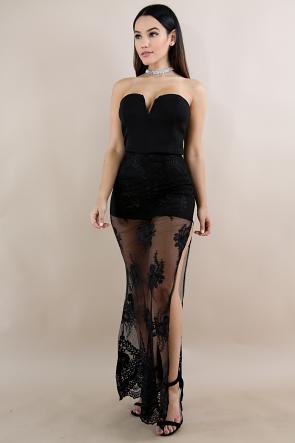 Strapless Maxi  Diva Dress