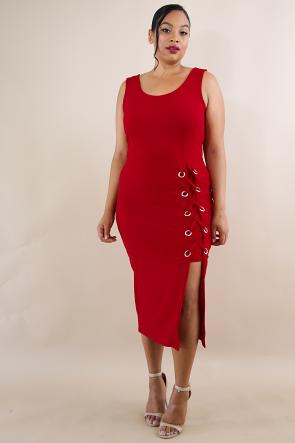 Eyelet Body-Con Dress