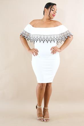 Crochet Tiered Body-Con Dress