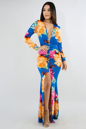 Floral Pop Maxi Dress