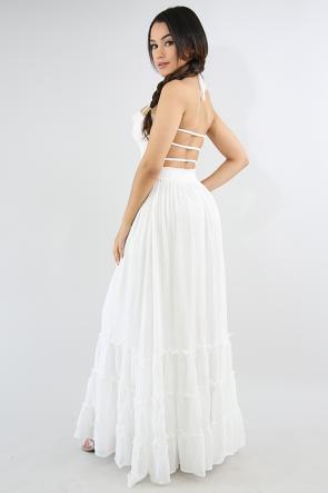 Roche Accordion Maxi Dress