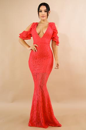 Shine Lace Maxi Dress