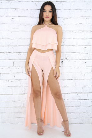 High Slits Classic Pant Set