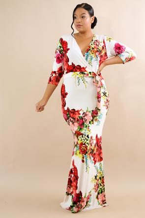 Floral Garden Maxi Dress