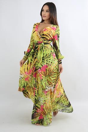 Beaming Floral Maxi Dress