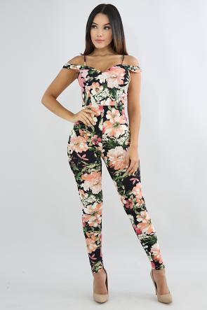 Colorful Floral Summer Jumpsuit