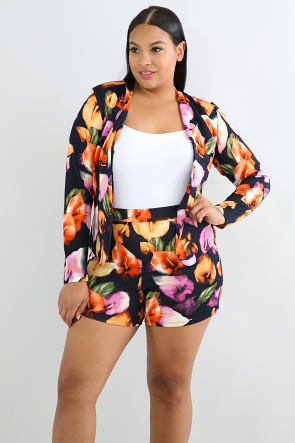 Tulip Blazer Short Set