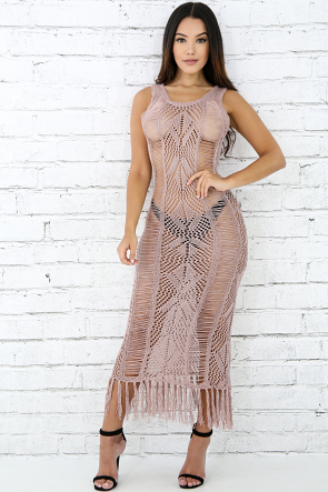 Crochet Tassel Dress