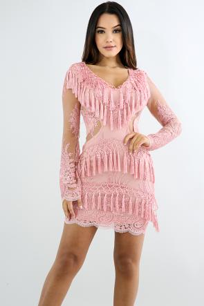 Fringe Tassel Body-Con Dress