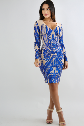 Dazzle Sequin Body-Con Dress