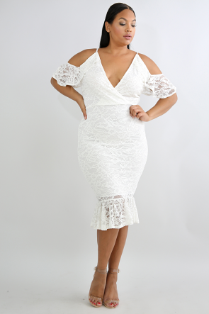 Edgy Lace Body-Con Dress