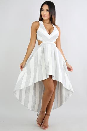 Striped Long Tail Dress