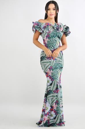 French Swirl Maxi Dress