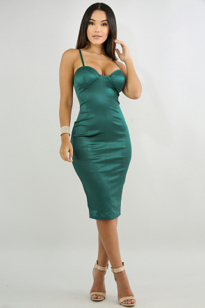 Silk Shine Body-Con Dress