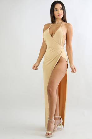 High Slit Diva Maxi Dress