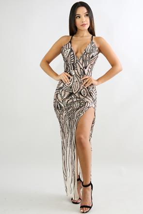 Sequin Glove Mermaid Dress