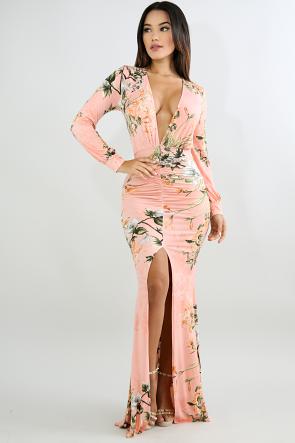 Scrunched In Maxi Dress