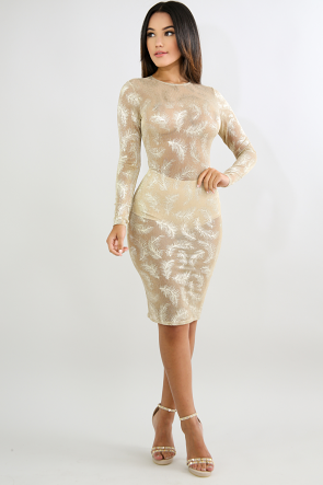 Shimmer Sparkle Body-Con Dress