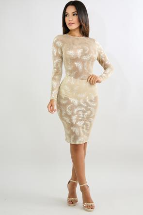 Shimmer Sparkle Body-Con Dress