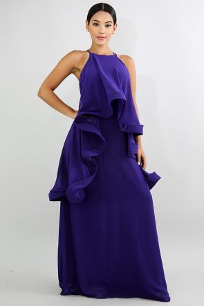 Swirl Cape Dress