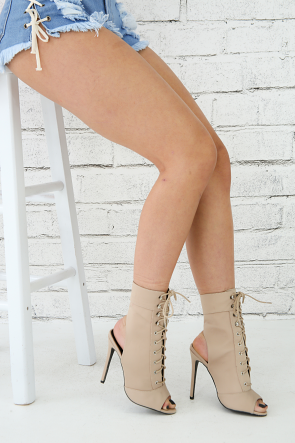 Lace Up Stiletto Ankle Boots