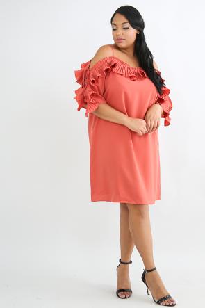Pleated Swirls Dress