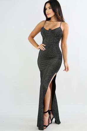 Cat Slide Slit Maxi Dress