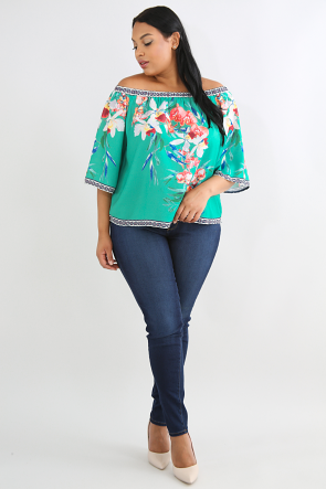 Floral Handkerchief Top