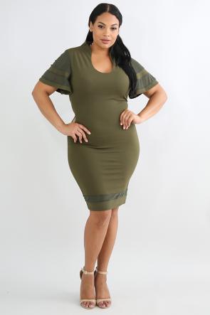 Bell Shoulder Dress