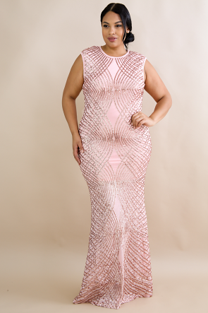 Diamond Dazzle Sequin Maxi Dress