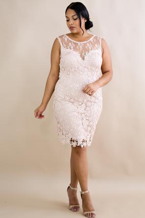 Crochet Lace Cocktail Dress