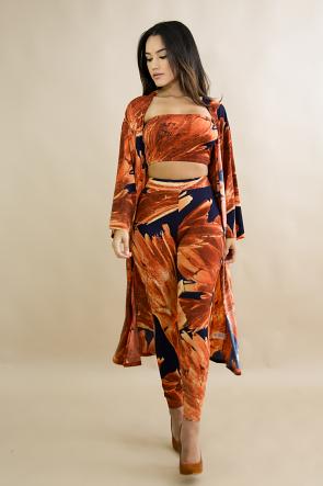 Sunset Kimono Pant Set