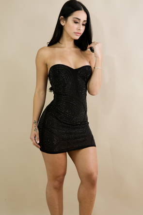 Mini Tube Rhinestone Dress