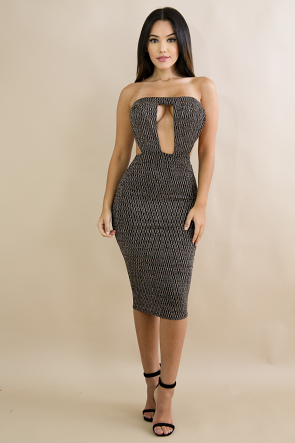 Glitter Tube Body-Con Dress