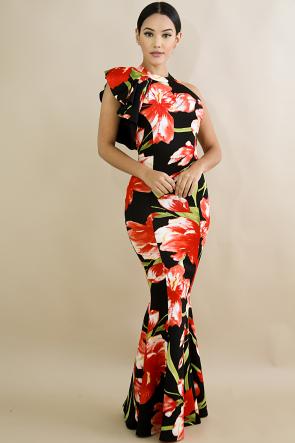 Stunning Tulipan Floral Maxi Dress