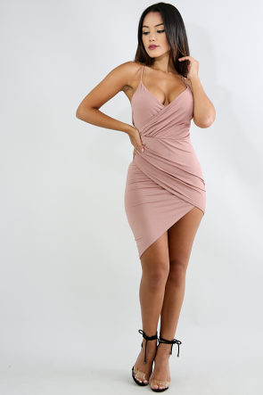 Edgy Scrunch Body-Con Dress