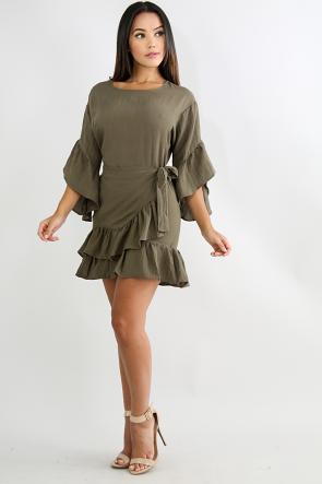 Baby Flare Overlay Dress