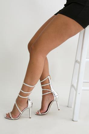 Liliana Rhinestone Spiral Leg Stiletto Heel