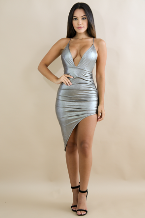 Glossy Shine Body-Con Dress