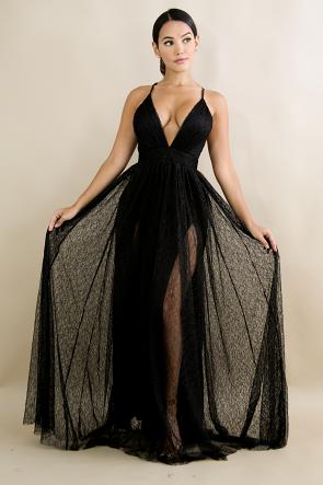 Lace Swift Maxi Dress
