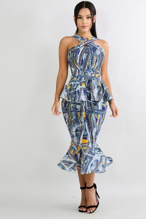 Swirled Sketch Dress