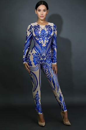 Sheer Sequin Jumpsuit