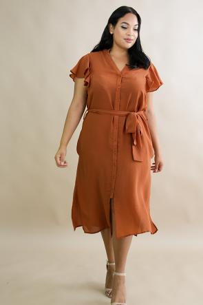 Silk Flare Dress