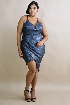 Sequin Edgy Body-Con Dress