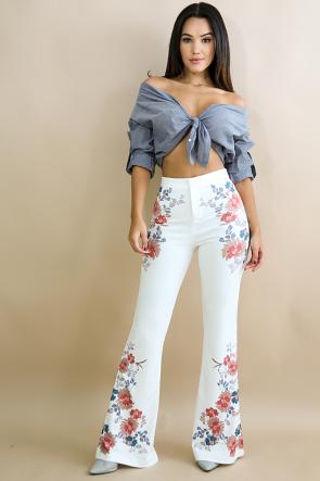 Floral Bloom Wide Pants