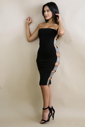 Bondage Tube shine Body-Con Dress