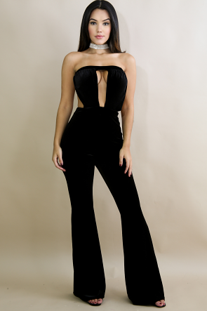 Tube Suede Jumpsuit