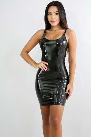 Barbie Latex Mini Body-Con Dress