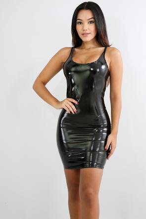 Barbie Latex Mini Body-Con Dress
